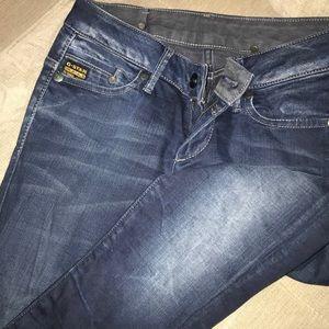 G-Star Low Rise Dark Wash Skinny Jeans Sz 27x32